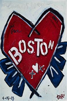 """""""Boston Heart"""" by Tori Campisi Painting Print on Canvas"""