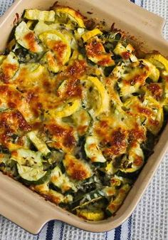 Easy Cheesy Zucchini Bake | #glutenfree #grainfree #vegetarian