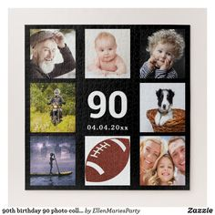 Shop birthday 40 photo collage guy man black jigsaw puzzle created by EllenMariesParty. Boy 16th Birthday, 90th Birthday Parties, Mom Birthday Gift, Birthday Ideas, Birthday Crafts, Birthday Celebration, Make Your Own Puzzle, Custom Gift Boxes, Pet Gifts