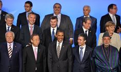 World leaders at the Nato summit. Look closely at their faces. Everyone looks in a diferent direction. This is not a team of winners.