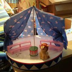 Träumerle Paradies Zirkuszelt Manege Löwe auch für Barbie Shelly geeignet