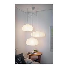 Master bedroom? IKEA - HEMMA, Triple pendant cord set, You can easily create your own unique lighting solution by hanging three pendant lamps from the ceiling.
