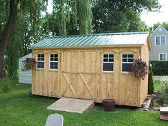 """All our sheds are self-supporting, non-permanent structures that can be moved almost anywhere. They can be placed on a few patio stones or a deep, ½"""" crushed gravel base; a concrete pad is NOT required."""
