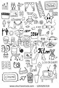 Cinema signs - stock vector