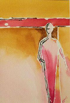 Maybe Peut-être  une aquarelle originale de Manon Jodoin Manon, Watercolors, Painting, Handmade Gifts, Unique Jewelry, Watercolor Painting, Water Colors, Watercolor Paintings, Painting Art