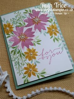 Artful Stampin' Uk Independent Stampin' Up! demonstrator - Ruth Trice: {Hello! Annual Catalogue 2016-2017 Blog Hop - Week 5} Blooms and Wishes