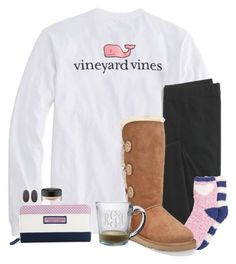 """because of you, I laugh a little harder, cry a little less, and smile a little more."" by chevron-elephants ❤ liked on Polyvore featuring Vineyard Vines, Madewell, Free Press, UGG Australia, jcp, Kendra Scott and MAC Cosmetics"
