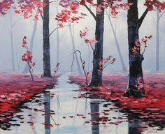 Beautiful Landscape Paintings by Sydney Australia based artist Graham Gercken. Predominantly self taught Graham chose oil paints as his medium and painted wet into wet, which is the style of the impressionist artists and lends itself best for outdoor painting like those of the AustralianHeidelberg school of artists.