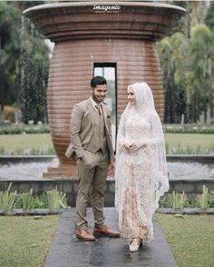 MORE PICTS You can also see more ideas about wedding inspiration hijab , wedding inspiration muslim , barn wedding inspiration , wedding ins. Malay Wedding Dress, Kebaya Wedding, Muslimah Wedding Dress, Muslim Wedding Dresses, Hijab Bride, Muslim Brides, Wedding Attire, Javanese Wedding, Indonesian Wedding