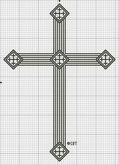 cross stitch patterns free | Free Printable Coptic Cross Cross-Stitch Pattern - Free Cross Stitch ...