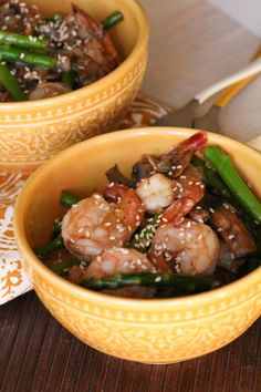 Shrimp & asparagus s