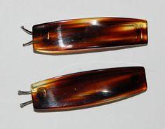 VINTAGE TORTOISE PLASTIC BARRETTES. I wore these!
