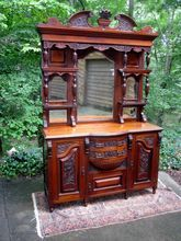 Magnificent Antique English Arts & Crafts/Nouveau Buffet w/Raised Gallery Circa 1885