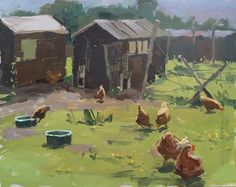 Haidee-Jo Summers artist : Sunny afternoon with the hens