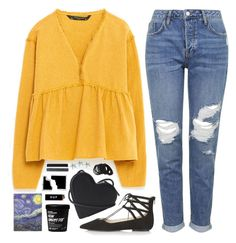 """""""Jinx?"""" by sharinganjea ❤ liked on Polyvore featuring Zara, Topshop, Christopher Kane, HUF, Polaroid, Forever 21, women's clothing, women, female and woman"""