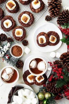 Hot Chocolate Cookies with Toasted Marshmallows are my fav holiday cookies. They taste just like hot cocoa and are topped with a jumbo toasted marshmallow!