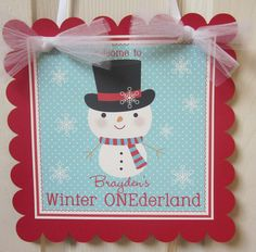 Winter ONEderland Party Sign