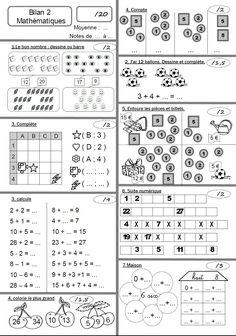 Maths CP bilan 2