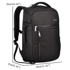 Men Waterproof Business Backpack Fashion Laptop Bag for 15.6 Inch Laptop - US$52.00