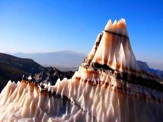 Dashti salt dome in the Zagros Mountains, in southwestern Iran. This dome is among the most beautiful and typical of Iran salt domes.