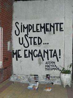 Simplemente usted me encanta  #paredes #accion