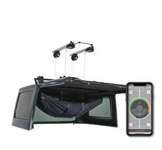Jeep Hard Top Hoist - Smart Removal & Storage System   Garage Smart Jeep Wrangler Hard Top, Jeep Hard Top, 2008 Jeep Wrangler, Jeep Jk, Jeep Wrangler Unlimited, Jeep Tops, Electric Winch, Jeep Grill, Video Installation