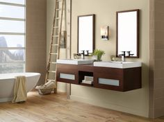 Ronbow Collection Ronbow Rebecca Double Vanity Set :: Bath Vanity from Home & Stone Bathroom Cabinets For Sale, Bathroom Vanities For Sale, Bathroom Vanity Base, Small Bathroom Vanities, Vanity Set, Bathroom Ideas, Bathroom Fixtures, Natural Bathroom, Kitchen Sinks