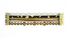 Pour réaliser son bracelet ″Marsupilami″, on choisit une harmonie de couleur. Un peu de colle dans un fermoir magnétique, c'est très facile !! #bijoux #LaDroguerie