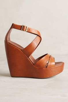 """If you fall on the darker spectrum at the end of the summer, a tanned wedge like this might look more """"nude"""" on you, and also more appropriate"""