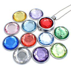 "New!! ""birthstone""  coin 33mm Fit for pendant/ Coin frame/Mentun locket  (12 color for choose)"