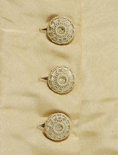 Bullion crochet buttons  1877 American Wedding Ensemble