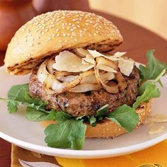 This savory Smoky Double Cheeseburger is made with cheddar, green onion and Worcestershire sauce. Recipe: http://www.bhg.com/recipe/game/smoky-double-cheeseburger/?socsrc=bhgpin051412
