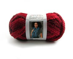 Sashay Metallic Yarn Rubies by Red Heart at Purple Okapi Yarn Studio, $4.49