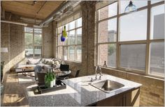 #Tannery #Loft #Toronto Exposed Brick Walls, Space Architecture, Wood Ceilings, Granite Counters, Humble Abode, Lofts, Toronto, The Neighbourhood, The Unit