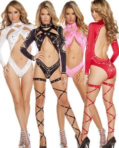 Collar sleeves mesh clubwear dancer stripper