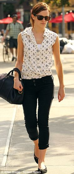 Emma Watson, Cute and Casual. Love the look