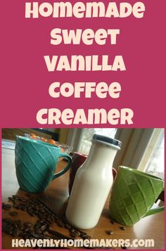 It's almost too simple to be called a recipe. But mix these three ingredients together and store a lovely batch of Vanilla Coffee Creamer in your fridge!