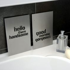 From trash to treasure: recycled industrial steel plaques to make you feel good about yourself!