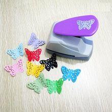 Envío Libre 4.7 cm Forma de La Mariposa 3D Bordo Punch Máquina Cortador De Papel Para Scrapbooking Tarjeta de Felicitación Hecha A Mano Perforadora(China)