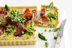 Parmesan, bacon andpeas are the perfect combination. Baked in a perfect pastry casing, it'll easily feed the crowd and have them asking for more!