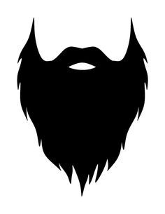 Printable beard photo booth prop. Create DIY props with our free PDF template at http://propstoprint.com/download/beard-photo-booth-prop/