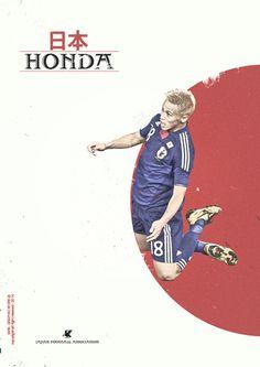 Brazil World Cup 2014 . Honda - Japan .