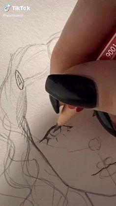 Art Drawings Beautiful, Art Drawings Sketches Simple, Pencil Art Drawings, Diy Canvas Art, Cartoon Art Styles, Art Sketchbook, Aesthetic Art, Art Tutorials, Cute Art