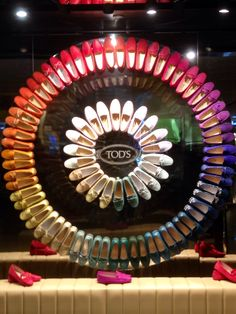 LK By Lincoln Keung: TOD'S Window Display - PACIFIC PLACE - HONG KONG #millinery #judithm #hats #display The color wheel in shoes. What can you use to make a color wheel?