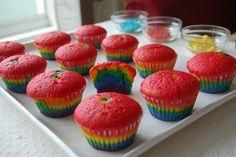 Rainbow Cupcakes #food #fun
