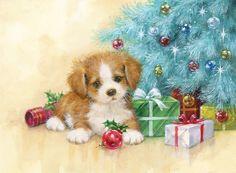 Christmas Quotes Images, Merry Christmas Pictures, Christmas Scenery, Vintage Christmas Images, Holiday Pictures, Hello Kitty Christmas, Christmas Puppy, Christmas Animals, Christmas Art