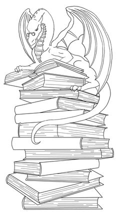 Dragon Bookmark Lineart By Ankaraven