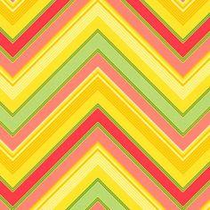 Heather Bailey - Pop Garden and Bijoux - Zig Zag in Gold Textile Pattern Design, Geometric Pattern Design, Gold Pattern, Textile Patterns, Print Patterns, Textiles, Heather Bailey, Etsy Fabric, Color Magic