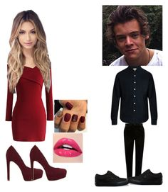 """""""Valentine's Day date with Harry styles~raina"""" by raylie-bae-bye ❤ liked on Polyvore featuring Chicwish, ALDO, Simon Miller, River Island and Vans"""