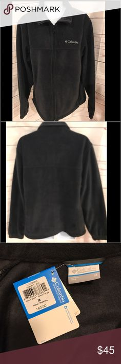"NWT Men's Columbia Fleece NWT Men's Columbia Fleece.  Black, full zip up, 2 front zip pockets, Columbia logo on front.  Perfect condition, never worn!  26"" long, 22"" across chest Columbia Shirts Sweatshirts & Hoodies"